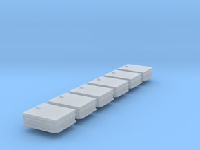 HO Scale 6x Roof hatch in Smooth Fine Detail Plastic