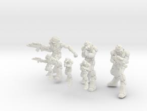 Infantry Rifleman 15mm 28mm in White Natural Versatile Plastic