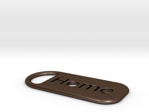 home_keychain in Polished Bronze Steel
