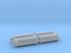 Litfaßsäule 4er Set 1:87 H0 in Smooth Fine Detail Plastic
