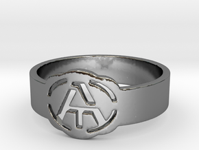 Atheism ring, unique ring, Atheist Jewelry, Atheis in Fine Detail Polished Silver