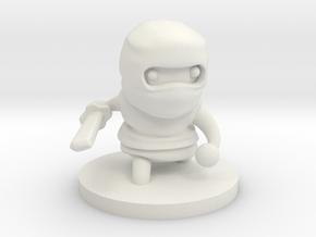 Ninja in White Natural Versatile Plastic