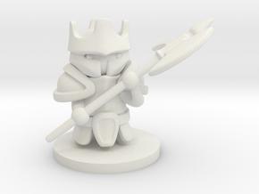 Heavy Knight in White Premium Versatile Plastic