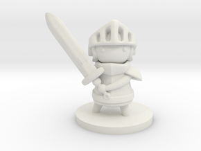 Knight in White Natural Versatile Plastic