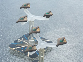 Omni Scale Tholian Spider-II Fighters SRZ in Smooth Fine Detail Plastic