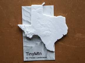 Texas Christmas Ornament in White Natural Versatile Plastic