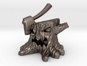 Stump Chump in Polished Bronzed Silver Steel: Extra Small