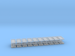 Gräber Set6 Grabeinfassungen 20er Set - 1:76 in Smooth Fine Detail Plastic