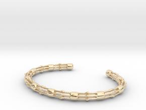 Skeletonema Bracelet - Science Jewelry in 14K Yellow Gold: Medium