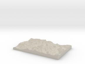 Model of Les Grandes Otanes in Natural Sandstone