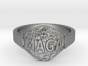 Maga Hashtag Ring in Natural Silver: 9 / 59