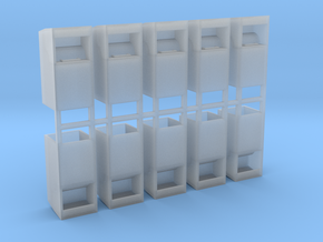 Altkleidercontainer 10er Set 1:87 H0 in Smooth Fine Detail Plastic