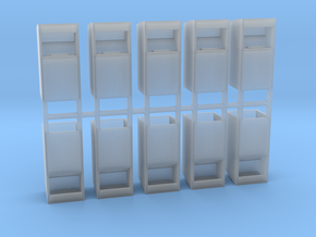 Altkleidercontainer 10er Set 1:100 in Smooth Fine Detail Plastic