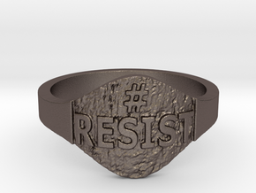 Resist Hashtag Ring in Stainless Steel: 9 / 59