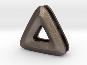 Unite ::: Triangle Pendant ::: v.01 in Polished Bronzed Silver Steel