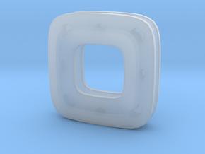 Unite ::: Square Pendant ::: v.01 in Smoothest Fine Detail Plastic