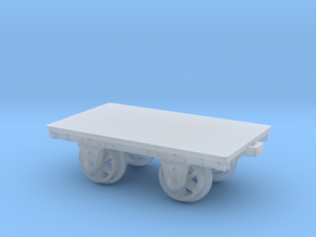 FR Slab Wagon 4mm Scale in Smooth Fine Detail Plastic
