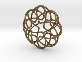 Dk Pendant in Natural Bronze