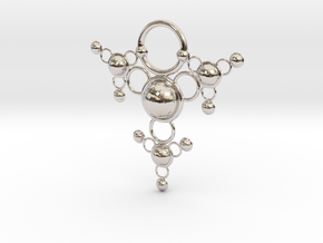 TsSys Pendant in Rhodium Plated Brass