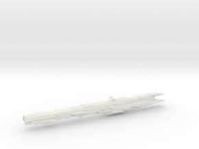 1/8000 Spaceship for Macross Diorama in White Natural Versatile Plastic