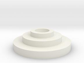 Imperial Basic Disk .8 in White Natural Versatile Plastic