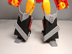 MTMTE/Lost Light Rodimus Leg Armor in Black Natural Versatile Plastic