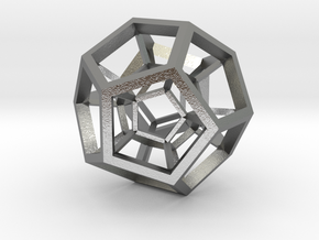4D Dodecahedron in Natural Silver
