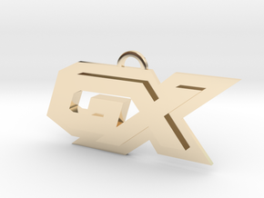 GX symbol in 14k Gold Plated Brass