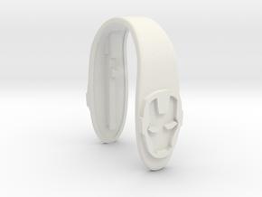IRONMAN KEY FOB  in White Premium Versatile Plastic