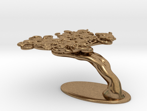 Squiggle Tree Half Size in Natural Brass