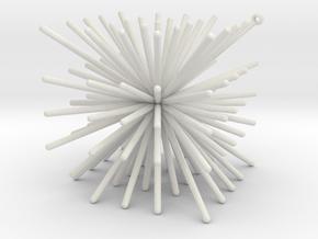 CubeOfPins5x5 in White Natural Versatile Plastic