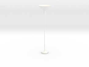 'Retro Living' Floor Lamp 1:12 Dollhouse in White Processed Versatile Plastic