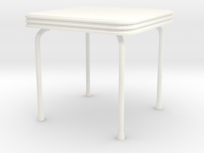 'Beginner Basic' Table 1:12 Dollhouse in White Processed Versatile Plastic