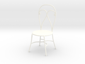 'Finer Fare' Chair 1:12 Dollhouse in White Processed Versatile Plastic