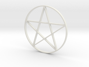 Large Pentagram (Pentacle) in White Premium Strong & Flexible