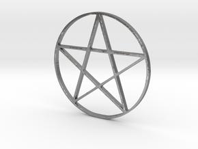 Large Pentagram (Pentacle) in Natural Silver