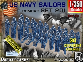 1/350 USN Combat set 201 in Smoothest Fine Detail Plastic