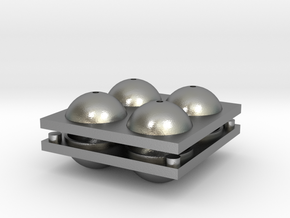 Sphere Mold Tray in Natural Silver