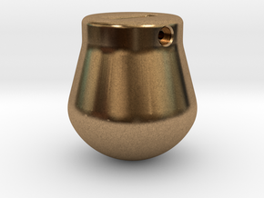 1-50 - 2500KG Wrecking ball Peer Shape in Natural Brass