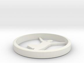 Yoga jewelry pendant in White Natural Versatile Plastic