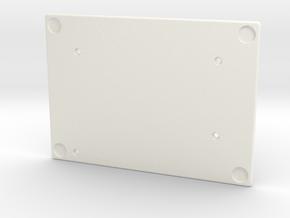 Let's Split Keyboard Case - Left Bottom in White Processed Versatile Plastic