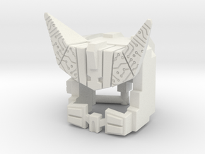 Cybertron Megatron Face & Helmet, Large in White Natural Versatile Plastic: Large