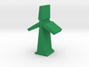 Game Piece, Wind Turbine, with base in Green Processed Versatile Plastic