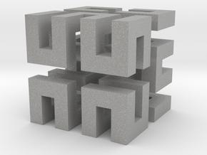 Hilbert cube ( pendant ) in Aluminum
