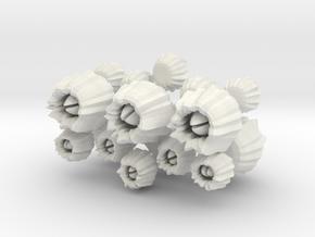 Barnacles, set of 16 in White Natural Versatile Plastic