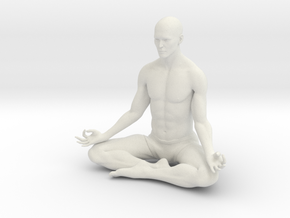 Male yoga pose 001 in White Natural Versatile Plastic: 1:10