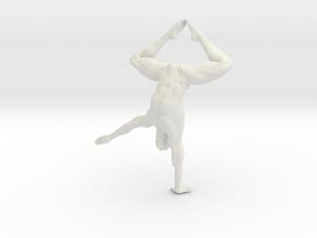 Male yoga pose 009 in White Natural Versatile Plastic: 1:10