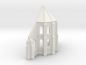 HORelM0143 - Gothic modular church in White Natural Versatile Plastic
