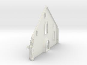 HORelM0132 - Gothic modular church in White Natural Versatile Plastic