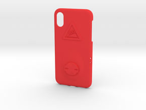iPhone X Garmin Mount Case - Hill Climb in Red Processed Versatile Plastic